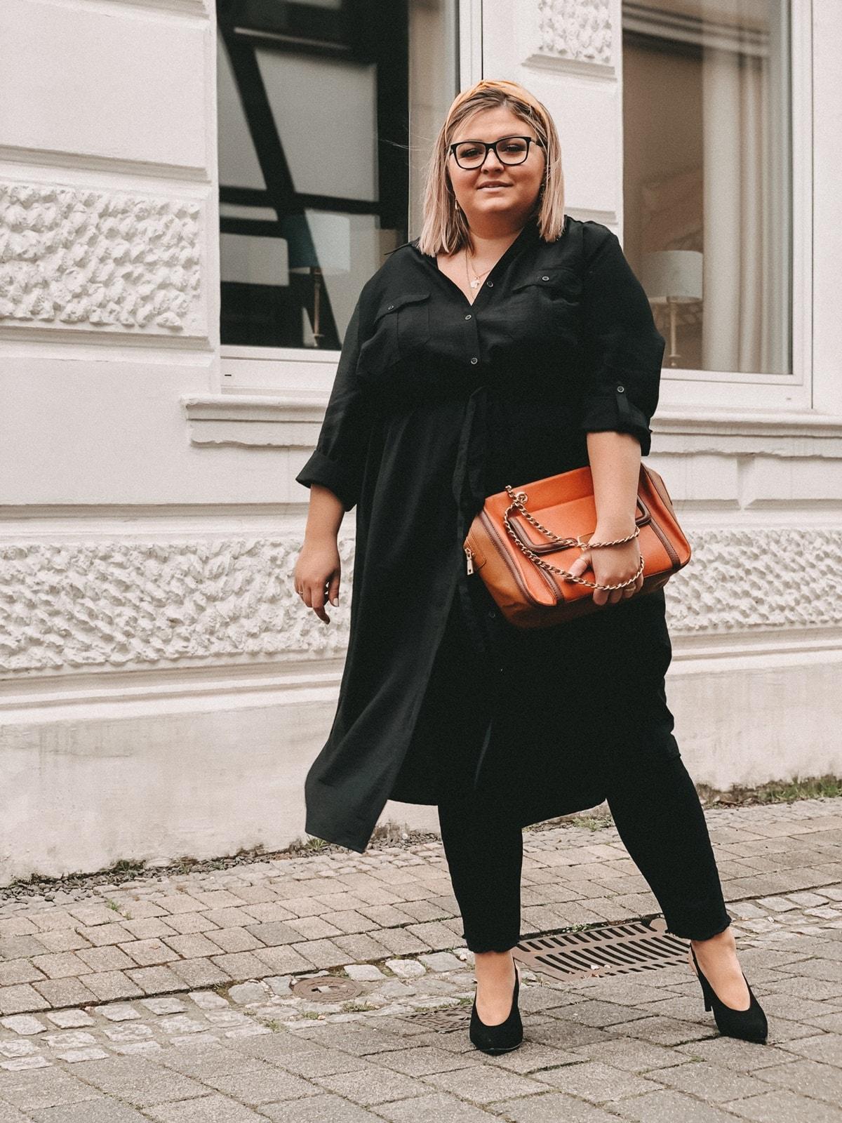 elabonbonella personal blog anna scholz by ulla popken kollektion schwarzes hemdblusenkleid 04 min
