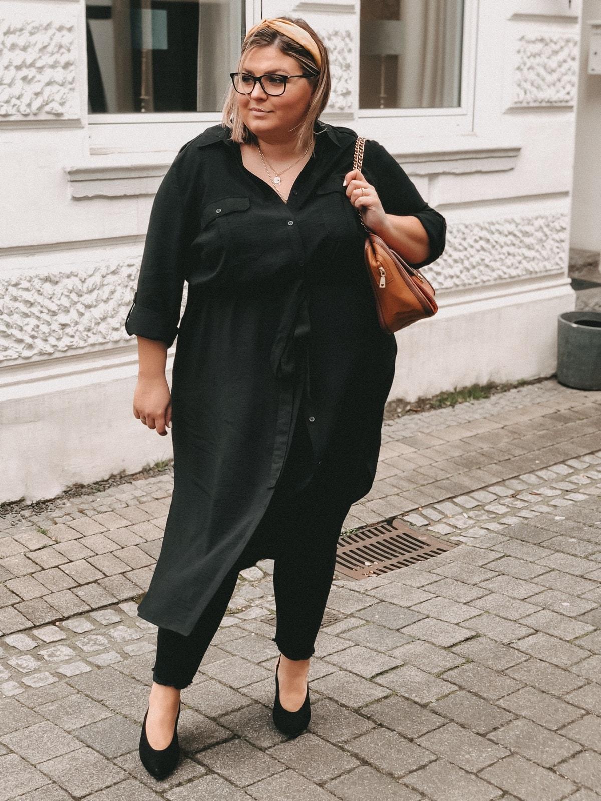 elabonbonella personal blog anna scholz by ulla popken kollektion schwarzes hemdblusenkleid 06 min